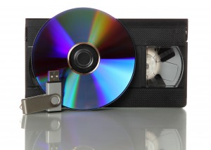 videotape with cd and usb stick